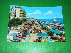 Cartolina Igea Marina - La Spiaggia 1964 - Rimini