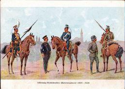 ! Alte Ansichtskarte Schleswig-Holsteinisches Ulanenregiment 1866-1926, Uniformen, Militär, Carl Henckel, Dresden - Régiments