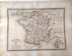CARTE GEOGRAPHIQUE ANCIENNE: FRANCE En 1789 (garantie Authentique. Epoque 19 Eme Siecle) - Cartes Géographiques