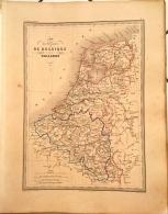 CARTE GEOGRAPHIQUE ANCIENNE: Carte Des Royaumes De BELGIQUE Et De HOLLANDE (garantie Authentique. Epoque 19 Eme Siecle) - Cartes Géographiques