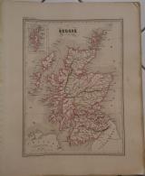 CARTE GEOGRAPHIQUE ANCIENNE:  ECOSSE (carte Garantie Authentique. Epoque 19 Eme Siecle) - Cartes Géographiques
