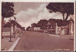 SANTO SPIRITO (BARI) - VIA BARI - VIAGGIATA 1956  FORM. GRANDE - Bari