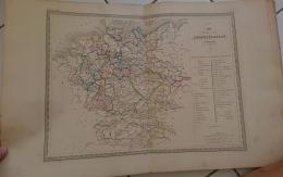 CARTE GEOGRAPHIQUE ANCIENNE: CARTE DE LA CONFEDERATION GERMANIQUE (garantie Authentique. Epoque 19 Eme Siecle) - Cartes Géographiques