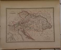 CARTE GEOGRAPHIQUE ANCIENNE: EMPIRE D'AUTRICHE (garantie Authentique. Epoque 19 Eme Siecle) - Cartes Géographiques