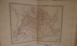 CARTE GEOGRAPHIQUE ANCIENNE: CARTE DE LA RUSSIE D'EUROPE (garantie Authentique. Epoque 19 Eme Siecle) - Cartes Géographiques
