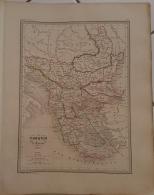 CARTE GEOGRAPHIQUE ANCIENNE: TURQUIE D'Europe (garantie Authentique. Epoque 19 Eme Siecle) - Cartes Géographiques