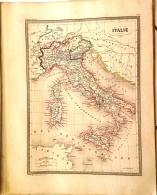 CARTE GEOGRAPHIQUE ANCIENNE: ITALIE (garantie Authentique. Epoque 19 Eme Siecle) - Cartes Géographiques