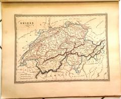 CARTE GEOGRAPHIQUE ANCIENNE: SUISSE (garantie Authentique. Epoque 19 Eme Siecle) - Cartes Géographiques
