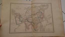 CARTE GEOGRAPHIQUE ANCIENNE: CARTE DE L'ASIE (garantie Authentique. Epoque 19 Eme Siecle) - Cartes Géographiques