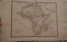 CARTE GEOGRAPHIQUE ANCIENNE: CARTE DE L'AFRIQUE (garantie Authentique. Epoque 19 Eme Siecle) - Cartes Géographiques
