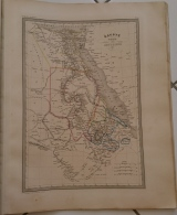 CARTE GEOGRAPHIQUE ANCIENNE: EGYPTE, NUBIE, ABYSSINIE(garantie Authentique. Epoque 19 Eme Siecle) - Cartes Géographiques