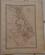 CARTE GEOGRAPHIQUE ANCIENNE: EGYPTE, NUBIE, ABYSSINIE(garantie Authentique. Epoque 19 Eme Siecle) - Geographical Maps