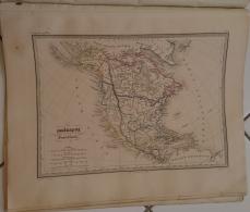 CARTE GEOGRAPHIQUE ANCIENNE: AMERIQUE SEPTENTRIONALE (garantie Authentique. Epoque 19 Eme Siecle) - Cartes Géographiques
