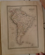 CARTE GEOGRAPHIQUE ANCIENNE: AMERIQUE MERIDIONALE (garantie Authentique. Epoque 19 Eme Siecle) - Cartes Géographiques