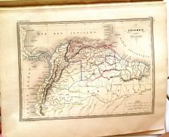 CARTE GEOGRAPHIQUE ANCIENNE: COLOMBIE ET GUYANES (garantie Authentique. Epoque 19 Eme Siecle) - Cartes Géographiques