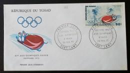 TCHAD - FDC 1972 - YT Aérien N°111 - Jeux Olympiques De Sapporo / Sports - Tschad (1960-...)