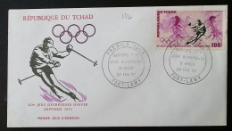 TCHAD - FDC 1972 - YT Aérien N°112 - Jeux Olympiques De Sapporo / Sports - Tschad (1960-...)