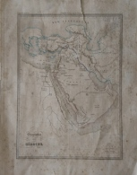 CARTE GEOGRAPHIQUE ANCIENNE: GEOGRAPHIE DES HEBREUX (garantie Authentique. Epoque 19 Eme Siecle) - Cartes Géographiques