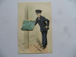 (Carte Fantaisie à Système - Calendrier 1910...) -  Facteur Avec Calendrier Dépliant (12 Mois)...........voir Scans - Dreh- Und Zugkarten