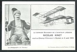 +++ CPA - Dernier Souvenir De L'Aviateur Liégeois NICOLAS KINET ....STOCKEL 1910 - Aviation Avion   // - St-Pieters-Woluwe - Woluwe-St-Pierre