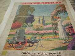 ANCIENNE PUBLICITE GROUPE MOTO POMPE BERNARD MOTEUR 1933 - Publicité
