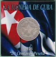 1916-MN-135 CUBA REPUBLICA 20c KM 13.2 1916 ESTRELLA SILVER 5gr. - Cuba