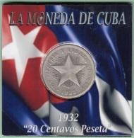 1932-MN-115 CUBA REPUBLICA 20c 1932. ESTRELLA STAR. 20c SILVER 5gr. VG. - Cuba