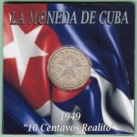 1949-MN-116 CUBA REPUBLICA. SILVER 10c STAR 1949. ESTRELLA RADIANTE. XF - Cuba