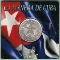 1949-MN-117 CUBA REPUBLICA. SILVER 20c STAR 1949. ESTRELLA RADIANTE. XF PLUS - Cuba