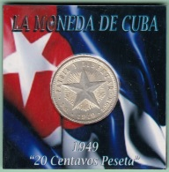 1949-MN-119 CUBA REPUBLICA. SILVER 20c STAR 1949. ESTRELLA RADIANTE. XF PLUS - Cuba