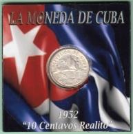 1952-MN-118 CUBA REPUBLICA. KM 23. SILVER. 10c. 1952. 50 ANIV REPUBLICA. INGENIO LA DEMAJAGUA. XF. - Cuba