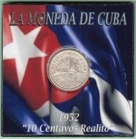 1952-MN-120 CUBA REPUBLICA. KM 23. SILVER. 10c. 1952. 50 ANIV REPUBLICA. INGENIO LA DEMAJAGUA. XF. - Cuba