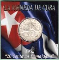 1952-MN-121 CUBA REPUBLICA. KM 24. SILVER. 20c. 1952. 50 ANIV REPUBLICA. INGENIO LA DEMAJAGUA. XF. - Cuba