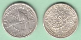 1952-MN-124 CUBA REPUBLICA. KM 23. SILVER. 10c. 1952. 50 ANIV REPUBLICA. INGENIO LA DEMAJAGUA. XF BRILLO ORIGINAL. - Cuba