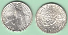 1952-MN-125 CUBA REPUBLICA. KM 24. SILVER. 20c. 1952. 50 ANIV REPUBLICA. INGENIO LA DEMAJAGUA. XF BRILLO ORIGINAL. - Cuba
