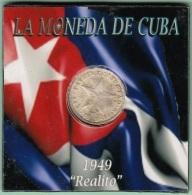 1949-MN-115 CUBA REPUBLICA. SILVER 10c STAR 1949. ESTRELLA RADIANTE. XF - Cuba