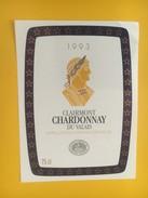 4332 - Clairmont 1993 Chardonnay  Du Valais Suisse - Etiquettes