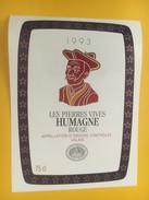 4335 - Les Pierres Vives 1993 Humagne Rouge Du Valais Suisse - Etiquettes