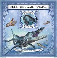 MALDIVES 2017 - Prehistoric Water Animals S/S Official Issue - Prehistorisch