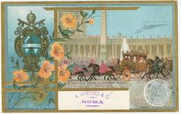 S.S. Si Rega S. Pietro In Carroza Di Gala 1900 Edit P. Becchino Litho - Vatican