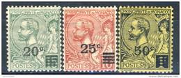Monaco 1922 Serie N. 51-53 MLH Catalogo € 10,30 - Nuovi
