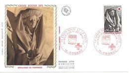 ENVELOPPE 1er JOUR - FDC - N° 1780 - CROIX ROUGE - COGNAC - 1970-1979