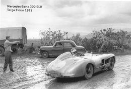 Mercedes-Benz 300SLR  -  Targa Florio 1955  -  Pilote: John Fitch   -  CPM - Sport Automobile