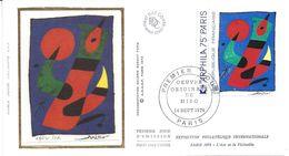 ENVELOPPE 1er JOUR - FDC - N° 1811 - OEUVRE De MIRO - ARPHILA 1975 - 1970-1979