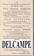 Doodsprentje  SCHEELEN Maria, SCHEELEN Jozef En EMMERS Petronella   Oorlogsslachtoffers 1940-1945 - Images Religieuses