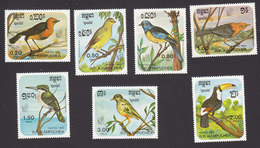 Cambodia, Scott #613-619, Mint Hinged, Birds, Issued 1985 - Cambodia