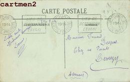 ARDENNES LEVREZY FERNAND DESPAS CACHET LIEU DE DESTINATION ENVAHI MARCOPHILIE GUERRE LILLE GARE - France