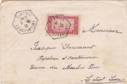 Bg - Enveloppe Algérie Pour La France - 1938 - Cachet Tixter Constantine - Algerien (1924-1962)