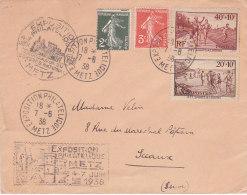 Bg - Enveloppe 1938 - Cachet METZ Exposition Philatélique - Marcophilie (Lettres)