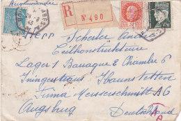 Bg - Enveloppe 1943 - Recommandée - Marcophilie (Lettres)